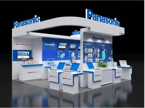 Thiết Kế gian hàng Panasonic
