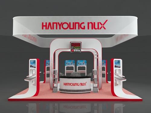Thiết kế gian hàng Hanyoung Nux