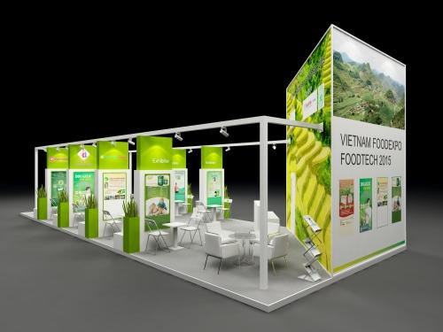 Thiết Kế gian hàng Food Expo