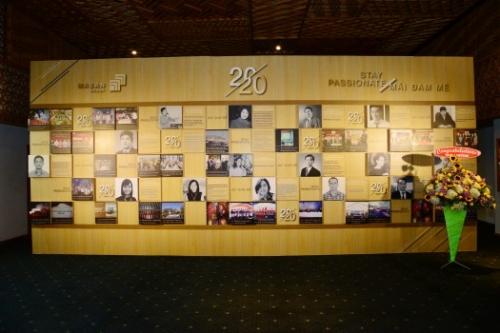 Thi công kiện kỷ niệm 20 năm thành lập của Tập đoàn Masan
