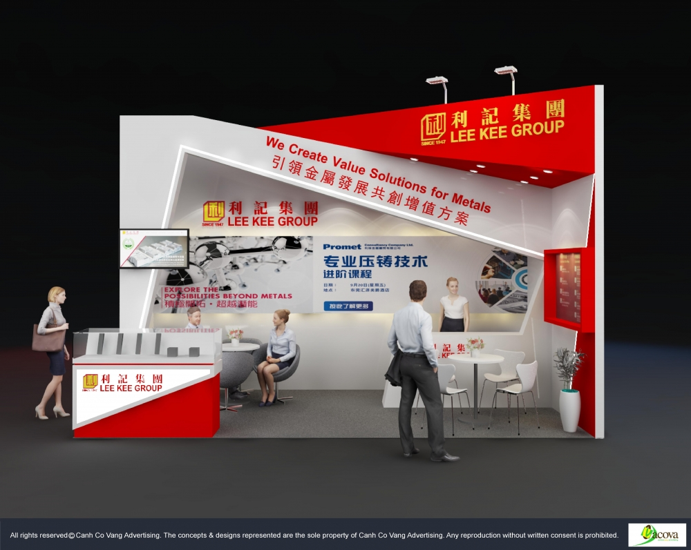 Design Booth for Lee Kee Group