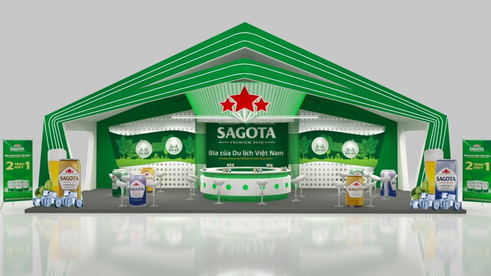 Design Booth for Vietfood Exhibition booth