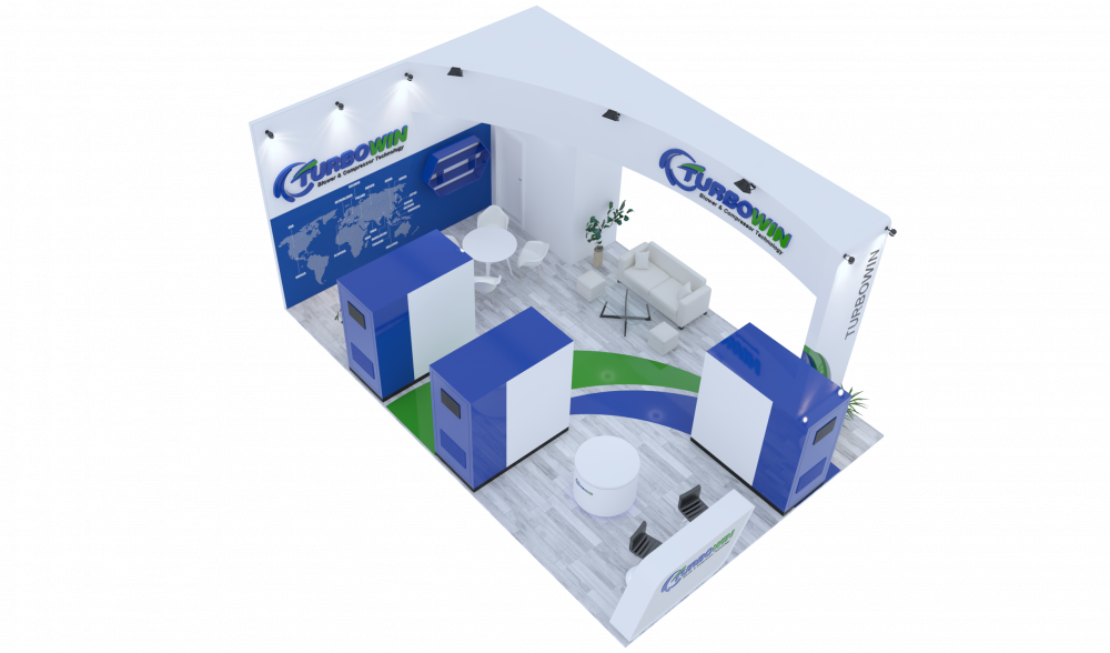 Design Booth for Viewater Exhibition in Vietnam