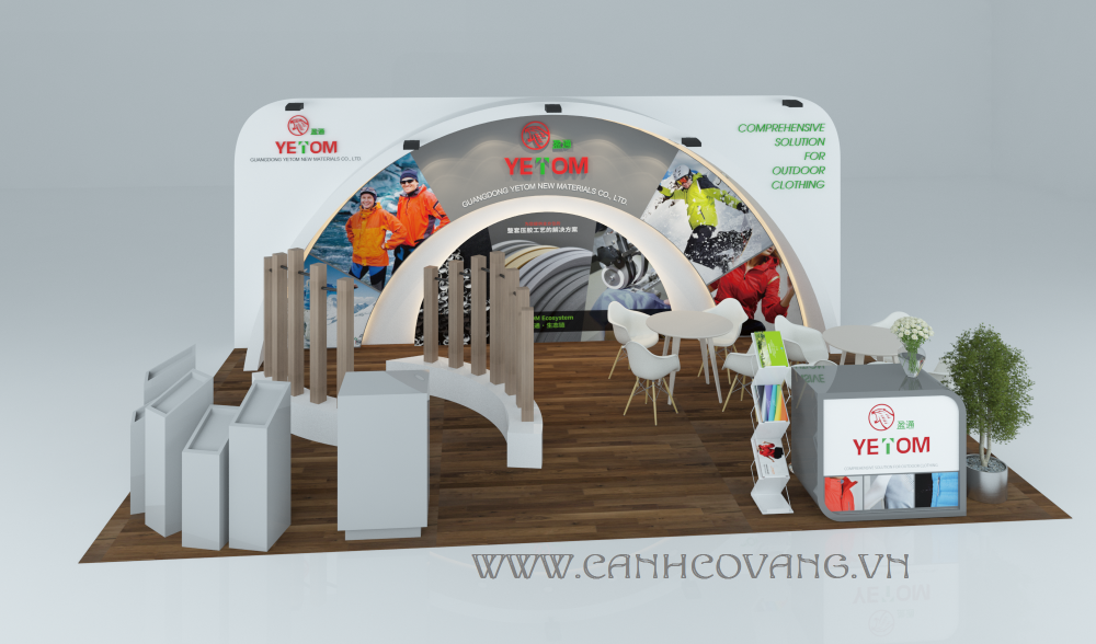 Design Booth for Saigon Tex Exhibition