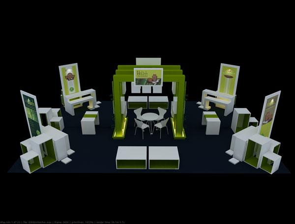thiết kế gian hàng hội chợ triển lãm